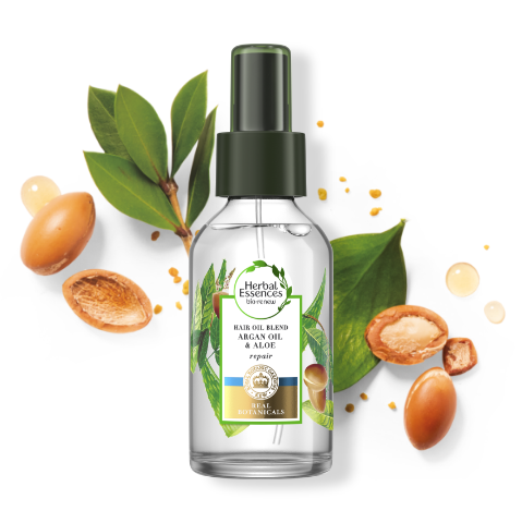 Herbal Essences Argan & Aloe hair oil blend