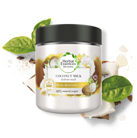 Herbal Essences Coconut Milk Hair Mask for Hair Hydration