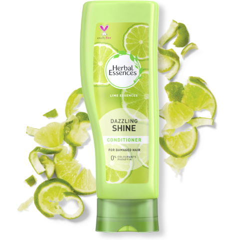 Herbal Essences Dazzling Shine conditioner bottle