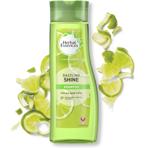Herbal Essences Dazzling Shine shampoo bottle