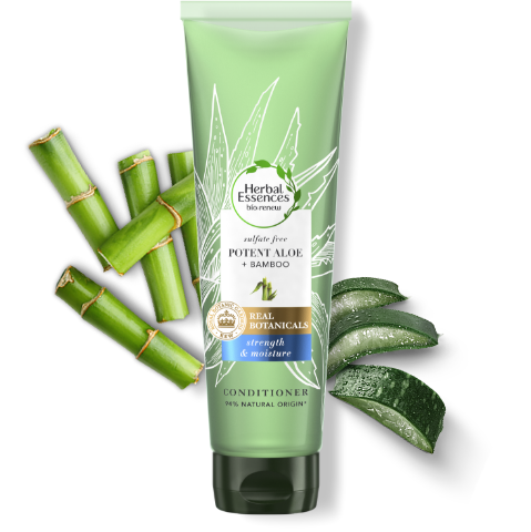 Herbal Essences sulphate free pure aloe & bamboo conditioner tube