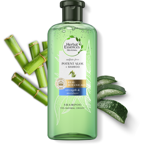 Herbal Essences sulphate-free Pure Aloe & Bamboo conditioner tube