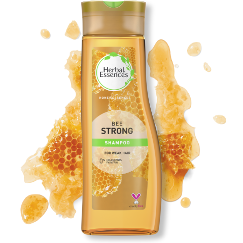 Herbal Essences Bee Strong shampoo bottle