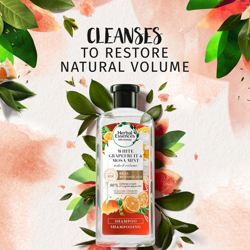 Cleanses to restore natural volume