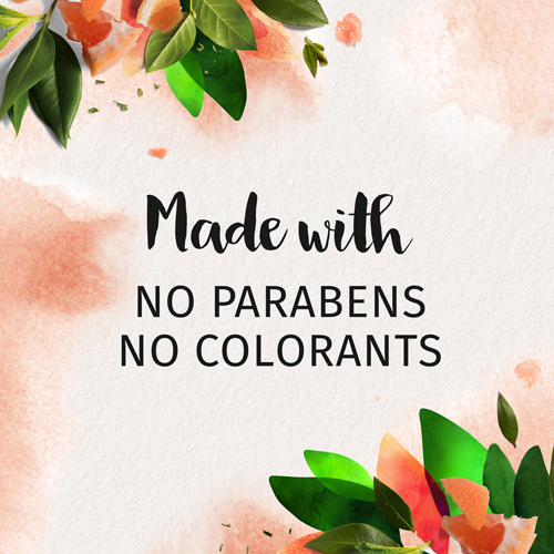 Made with no parabens, no colorants