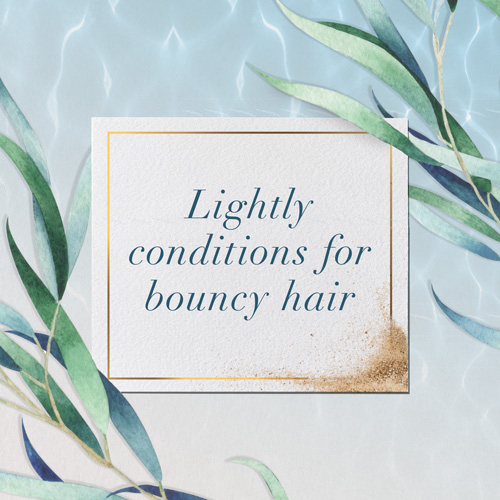 Lightly conditions for bouncy hair