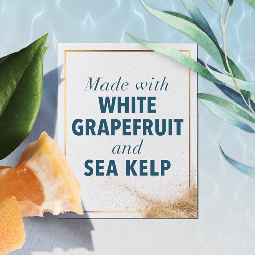 Made with White Grapefruit and Sea Kelp