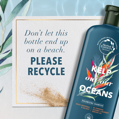 Don't let this bottle end up on a beach. Please recycle.