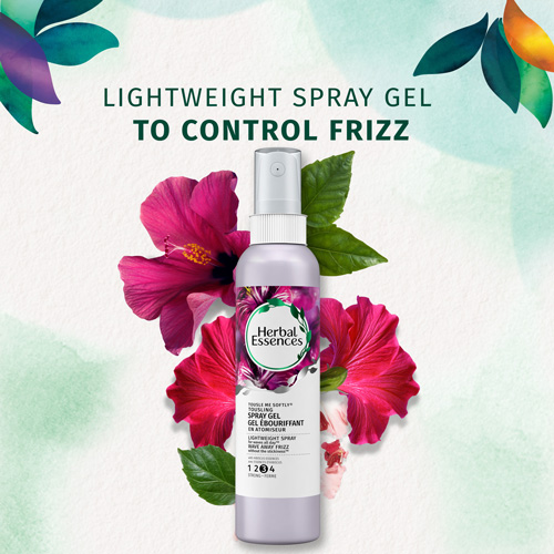 Lightweight spray gel to control frizz