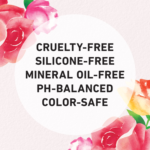 Cruelty-free, silicone-free, mineral oil-free, pH-balanced, colore-safe