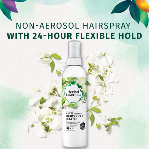 Non-Aerosol Hairspray with 24-hours flexible hold