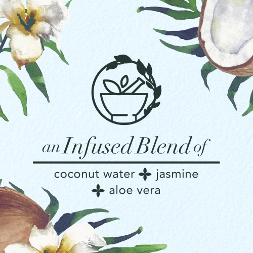 An Infused blend of coconut water, jasmin and aloe vera
