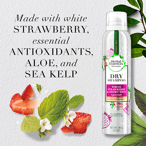 Made with Strawberry, essential Antioxidants, Aloe, and Sea Kelp