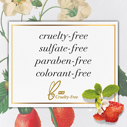 Free of Cruelty, Sulfates, Parabens and Colorants