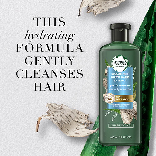 This hydrating formula gently cleanses hair