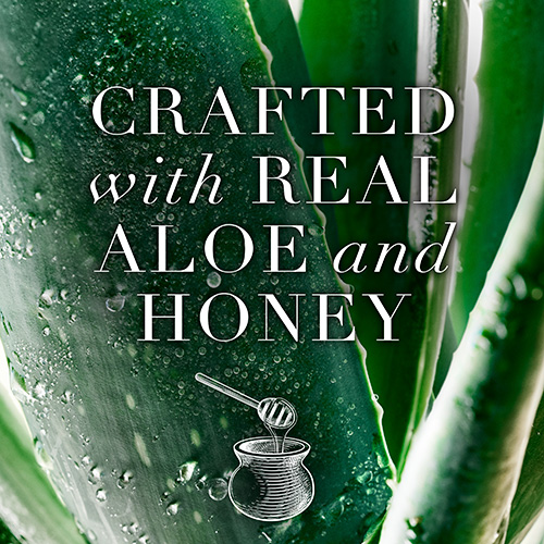 Crafted With Real Aloe and Honey