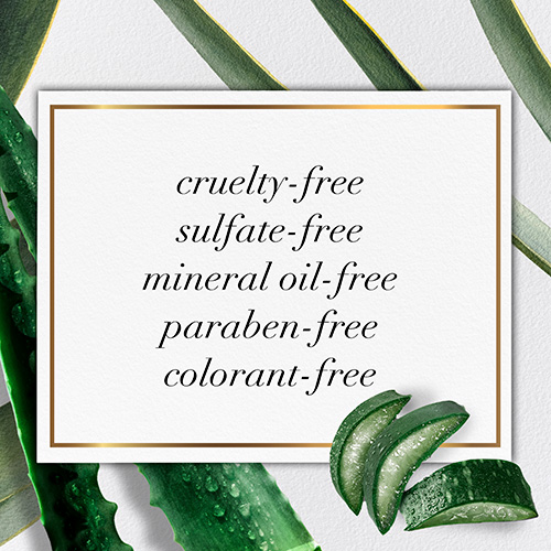 Made with no Sulfates, no Cruelty, no Parabens, no Colorants, and no Mineral Oil