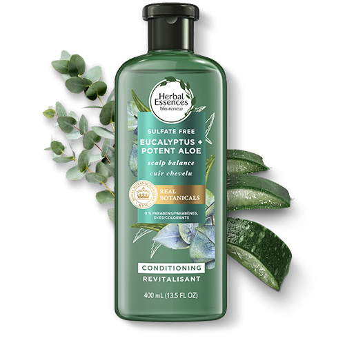 Herbal Essences Eucalyptus & Potent Aloe Leaf Scalp Balance Conditioner
