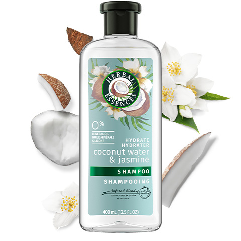 Herbal Essences Coconut Water & Jasmine Shampoo Bottle for Hair Hydration