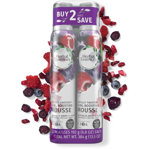 Herbal Essences Totally Twisted Curl Boosting Hair Mousse Bundle