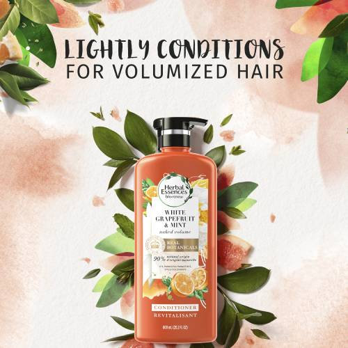 Lightly conditions for volumized hair