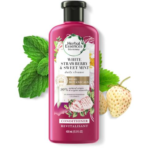 Herbal Essences White Strawberry and Sweet Mint Shine Conditioner bottle