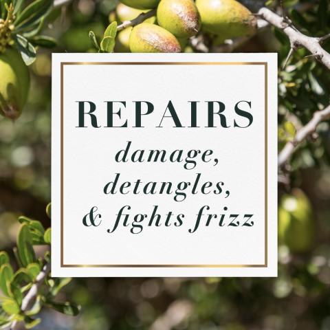 Repairs damage, detangles and fights frizz