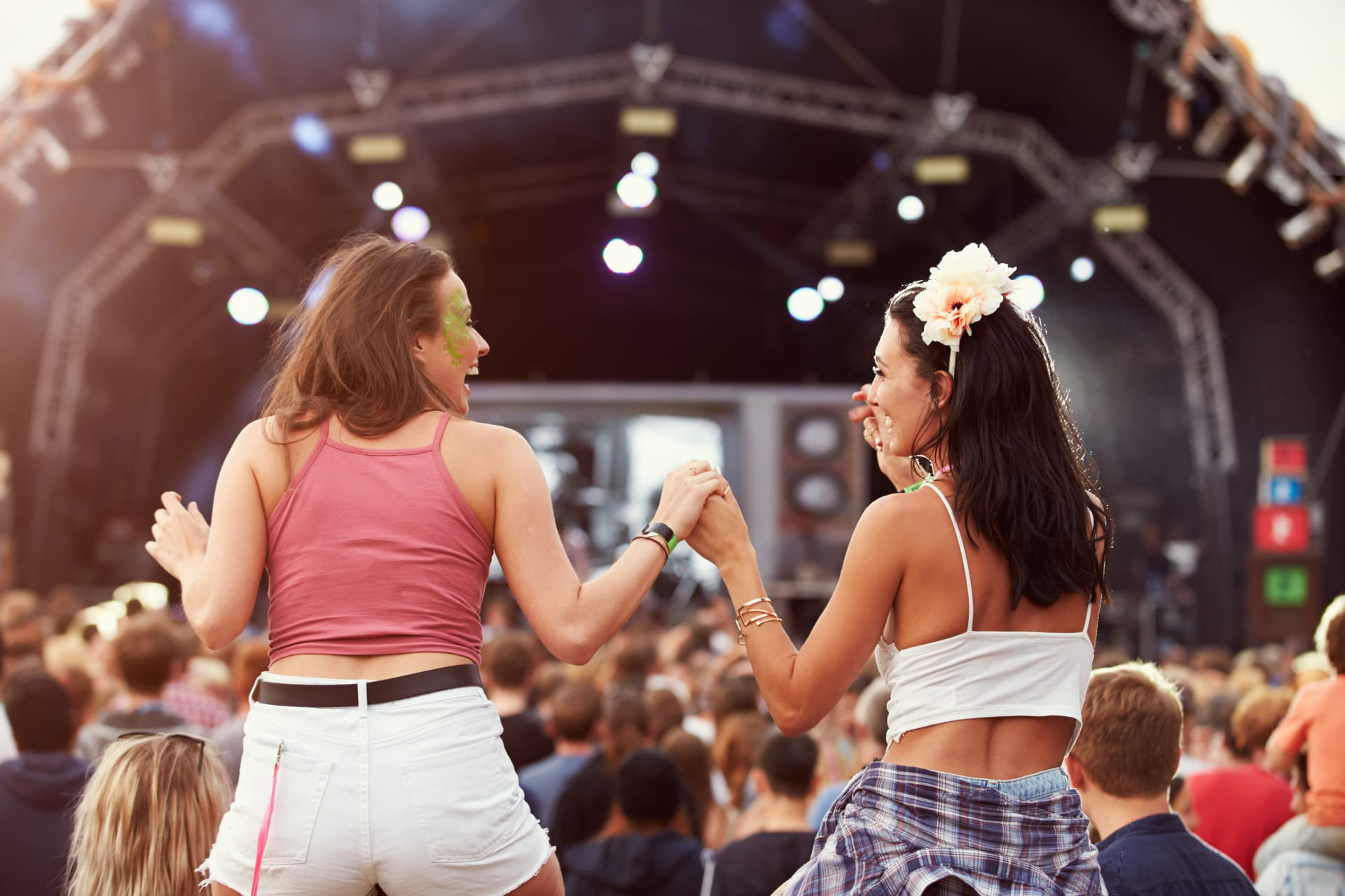 Two women at a festival