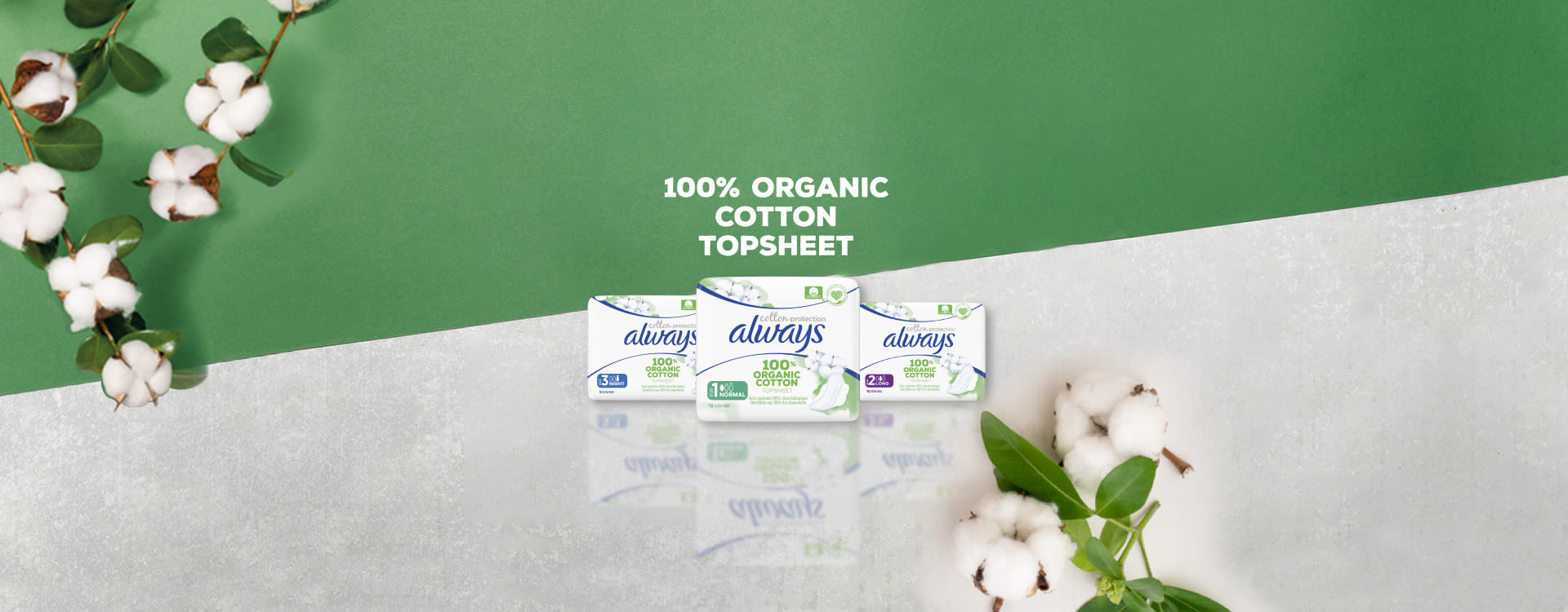 Always Cotton Protection Ultra Organic Sanitary Pads