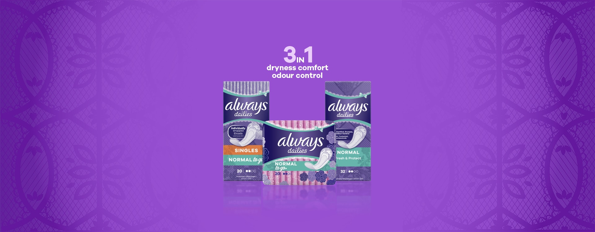 Always Dailies Fresh & Protect pantyliners