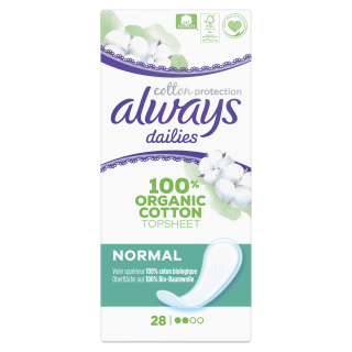 Always Dailies Cotton Protection Normal Organic Pantyliners