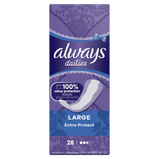 Always Dailies Extra Protect Large Pantyliners