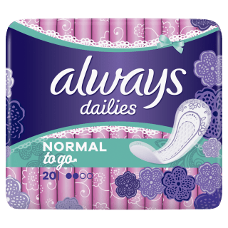 Always Dailies Normal To Go Normal Pantyliners