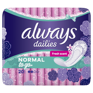 Always Dailies Normal To Go Fresh Pantyliners