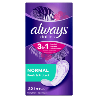 Always Dailies Fresh & Protect Normal Pantyliners