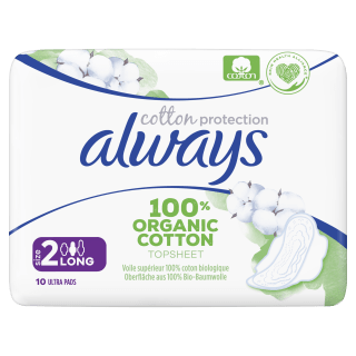 Always Cotton Protection Ultra Long Organic Sanitary Pads
