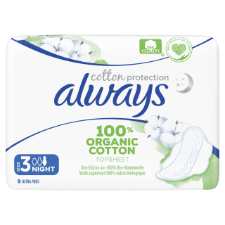Always Cotton Protection Ultra Night Organic Sanitary Pads