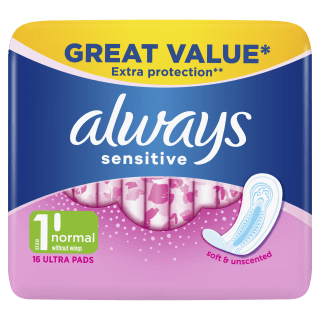 Always Sensitive Normal Ultra (Size 1) Sanitary Pads