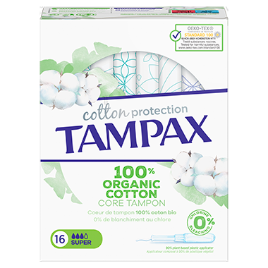 TAMPAX COTTON PROTECTION SUPER 16 pack