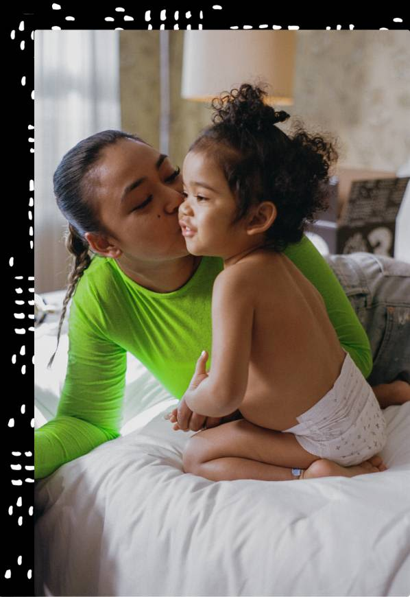 Child and mom