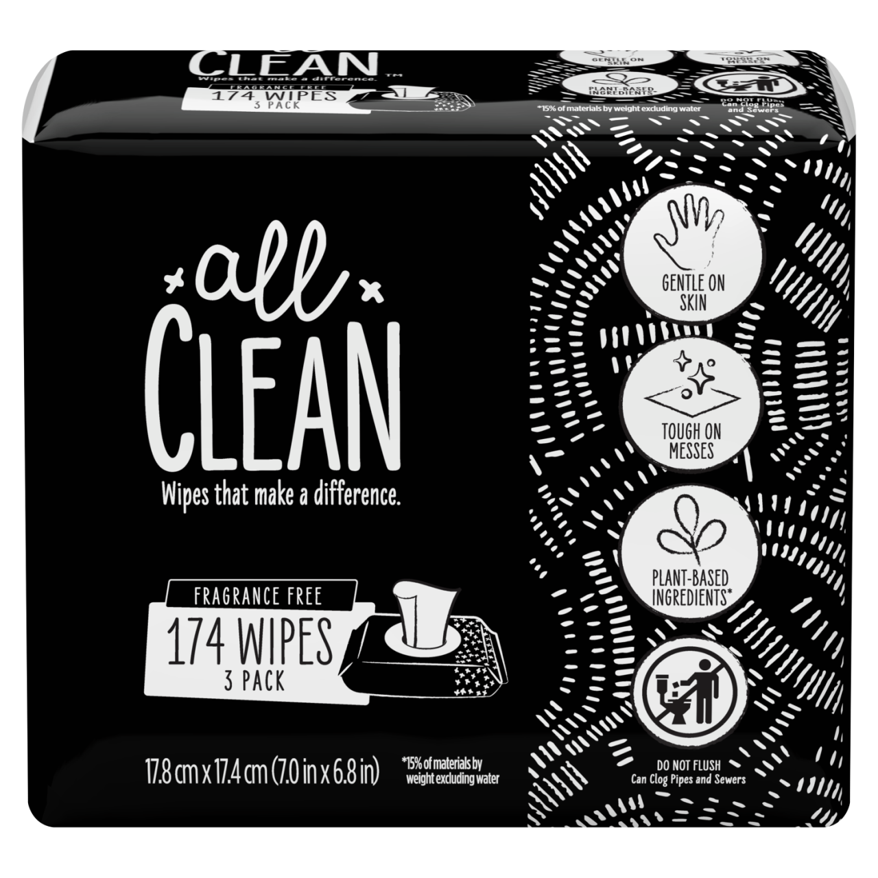 All Clean Wipes 3 Pack