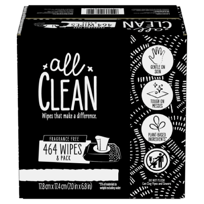 All Clean Wipes 8 Pack