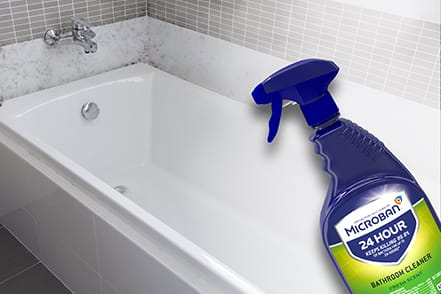 Prevents the growth of mold and mildew for 7 days on hard surfaces