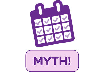 Myths & Truths About Pantyliners calendar icon myth
