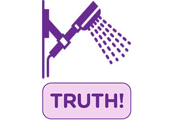 Myths & Truths About Pantyliners shower icon truth