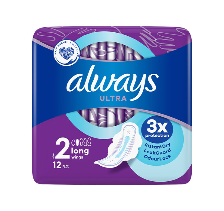 Always Ultra Long (Size 2) Sanitary Pads With Wings