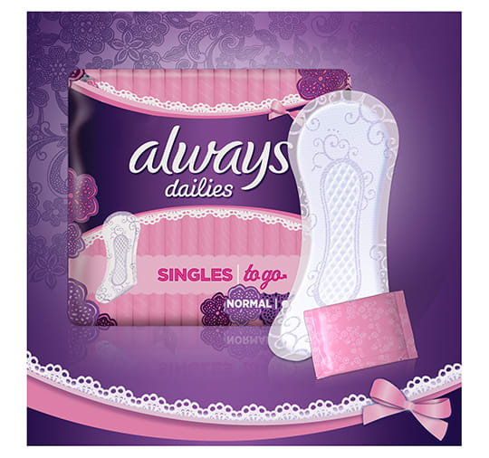 01 - Always Dailies Singles to go Panty Liners
