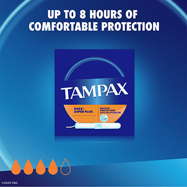 Tampax Cardboard Super Plus Protection