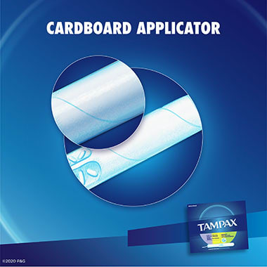 Tampax Cardboard Triplepack Applicator