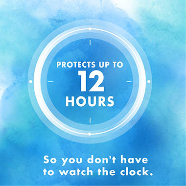 Protects Up To 12 Hours